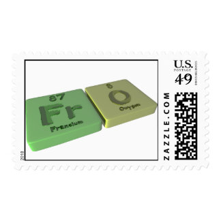 Fro as Fr Francium  and O Oxygen Stamps