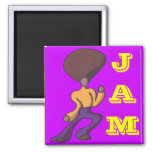 Fro Dude Jam 2 Inch Square Magnet