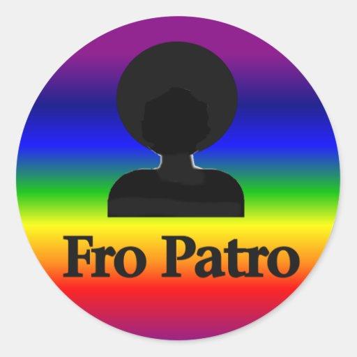 Fro Patro Classic Round Sticker