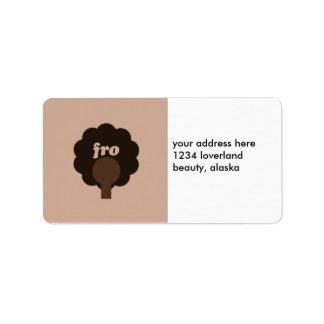 Fro Sho Custom Address Labels
