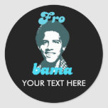 Frobama (blue) classic round sticker