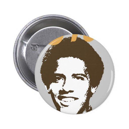 Frobama (brown) button