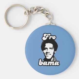 Frobama Basic Round Button Keychain