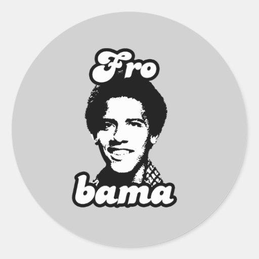 FRObama T-shirt Round Stickers