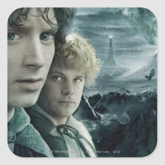 FRODO™ and Samwise Close Up Square Stickers