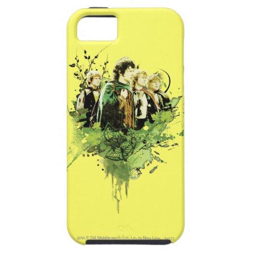 FRODO™ con collage del vector de Hobbits iPhone 5 Fundas