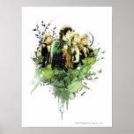 FRODO™ con collage del vector de Hobbits Posters