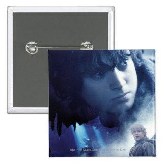 Frodo, Gollum and Sam Buttons