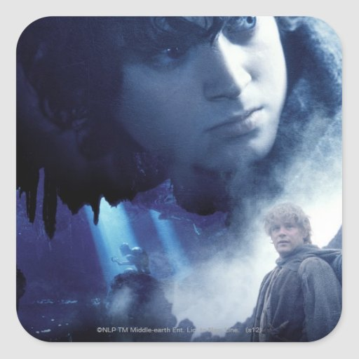 Frodo, Gollum y Sam Pegatinas