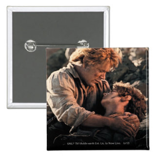 Frodo in Samwise s Arms Pinback Button