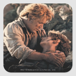 FRODO™ in Samwise's Arms Square Stickers