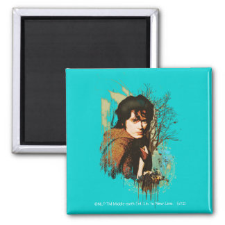 FRODO™ Mixed Media Vector Collage 2 Inch Square Magnet