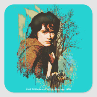 FRODO™ Mixed Media Vector Collage Square Sticker