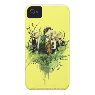 Frodo with Hobbits Vector Collage iPhone 4 Cover