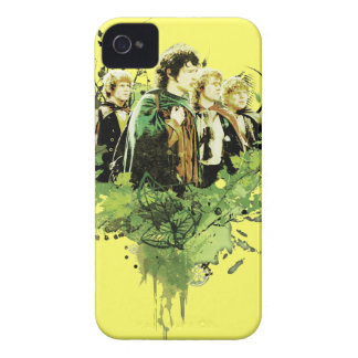 Frodo with Hobbits Vector Collage iPhone 4 Case-Mate Cases