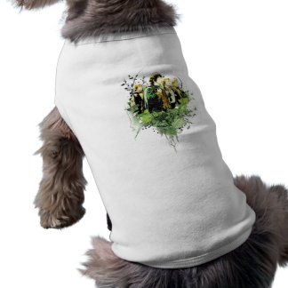 Frodo with Hobbits Vector Collage Pet Tshirt