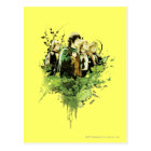 FRODO™ with Hobbits Vector Collage Postcard
