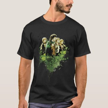 lordoftherings FRODO™ with Hobbits Vector Collage T-Shirt
