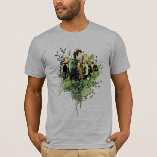 FRODO™ with Hobbits Vector Collage T-Shirt