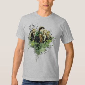 FRODO™ with Hobbits Vector Collage T Shirts