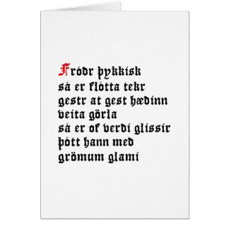 Fróðr Þykkisk (Hávamál, Stanza 31) Card
