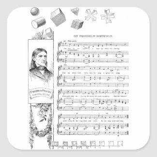 Froebel Song and His Gifts Square Sticker