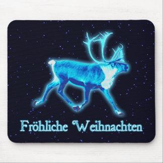 Froehliche Weihnachten - Blue Caribou (Reindeer) Mouse Pad