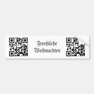 Froehliche Weihnachten - German Car Bumper Sticker