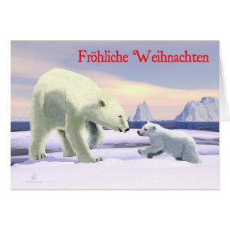 Froehliche Weihnachten - mamá Nose Best Felicitaciones