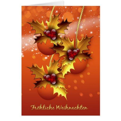 froehliche weihnachten stylish german christmas card zazzle. Black Bedroom Furniture Sets. Home Design Ideas