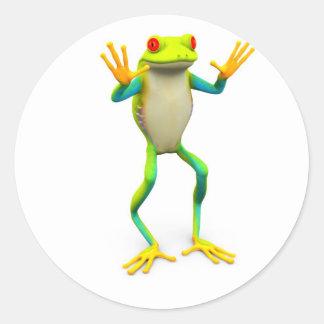 frog1 classic round sticker