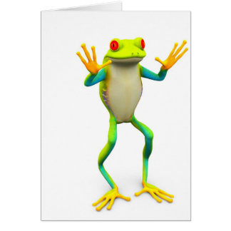 frog1 greeting card