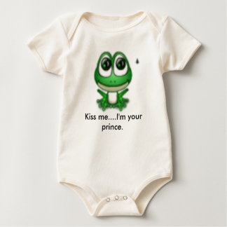 frog2, Kiss me....I'm your prince. Baby Bodysuit