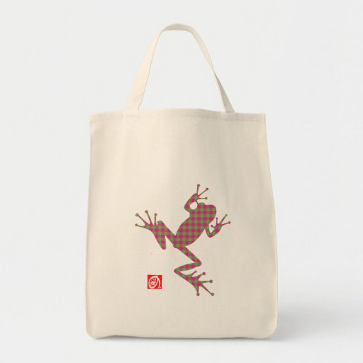 frog7 grocery tote bag