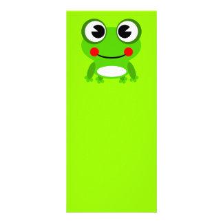 frog-152631 frog amphibian animal green happy smil rack card