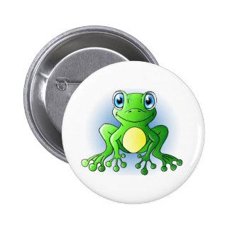 Frog 2 Inch Round Button