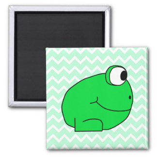 Frog. 2 Inch Square Magnet