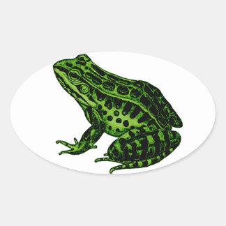 Frog 2 oval sticker