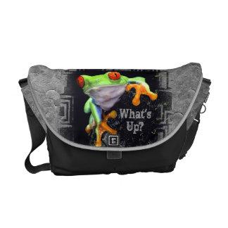 Frog 3 Bordered Messenger Bag Options
