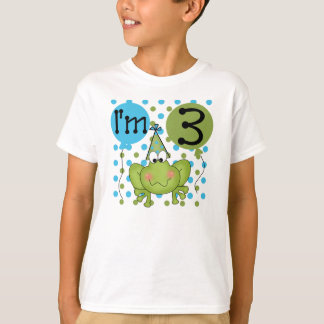 Frog 3rd Birthday (blue) T-Shirt