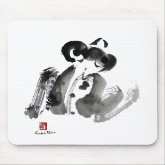 Frog a traditional Sumi-e Ink Painting Mousepad