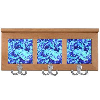 frog abstract blue shades animal design coat rack