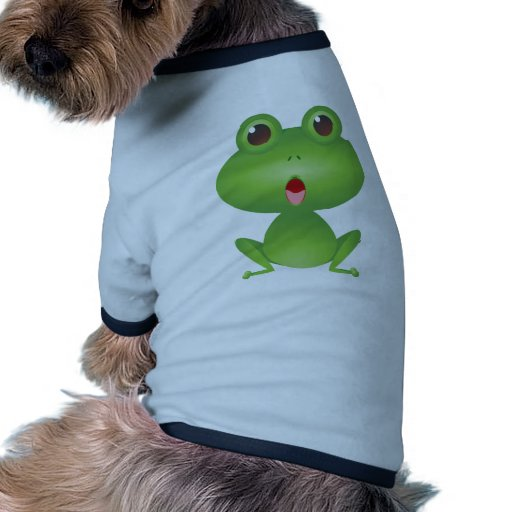 Frog Amphibian Green Frogs Cute Cartoon Animal Doggie Tee Shirt