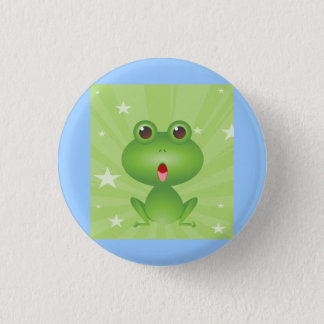 Frog Amphibian Green Frogs Cute Cartoon Animal Pinback Button