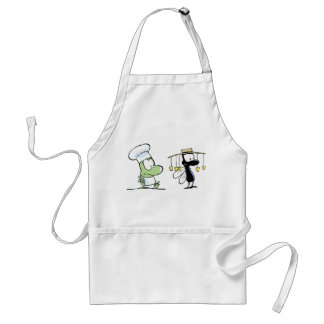 Frog and Aussie Fly Cartoon Adult Apron