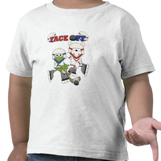 Frog and Bear Hockey Face Off Tshirts and Gifts