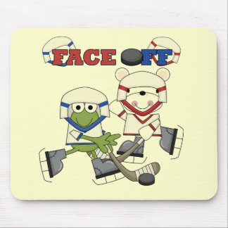 Frog and Bear Hockey Face Off Tshirts and Gifts Mouse Pad