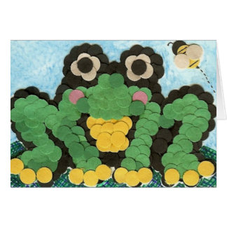 Frog and Bee Stationery Note Card