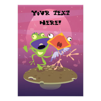 Frog and Bird [personalize] Personalized Invitation