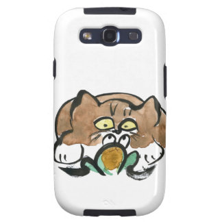 Frog and Brown Tuxedo Kitten Samsung Galaxy SIII Cover